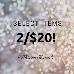 Select items 2 for $20